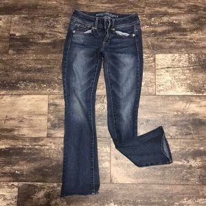 AEO bootcut jeans size 0